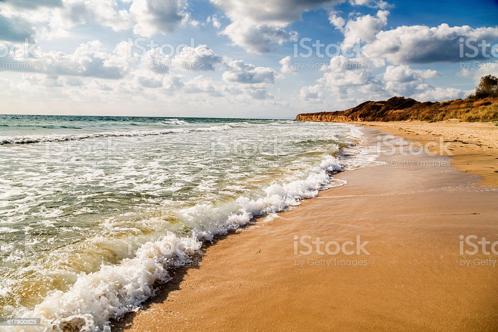 Empty beautiful beach stock photo