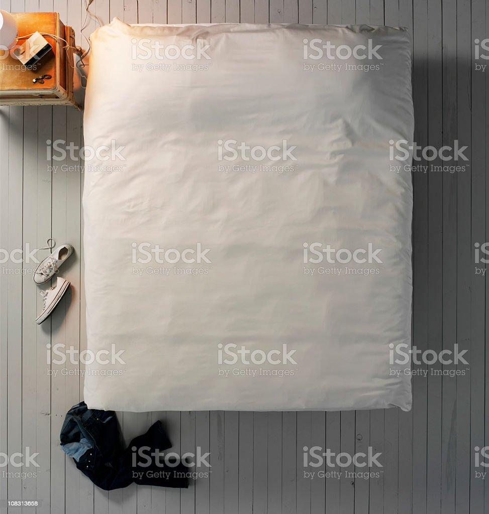 Empty Bed stock photo