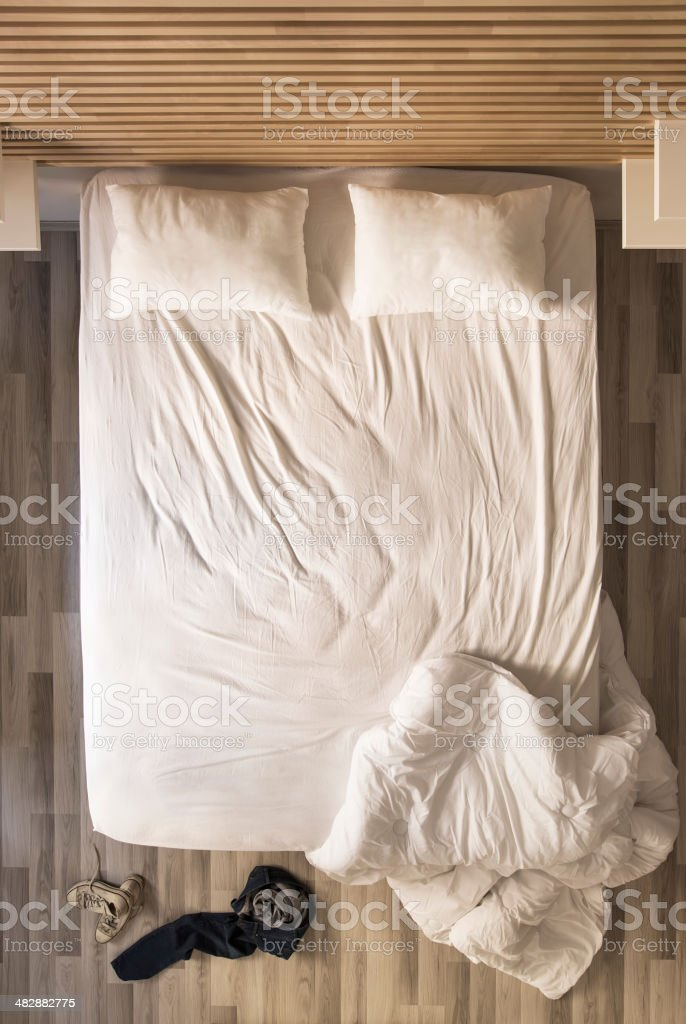 Empty Bed royalty-free stock photo