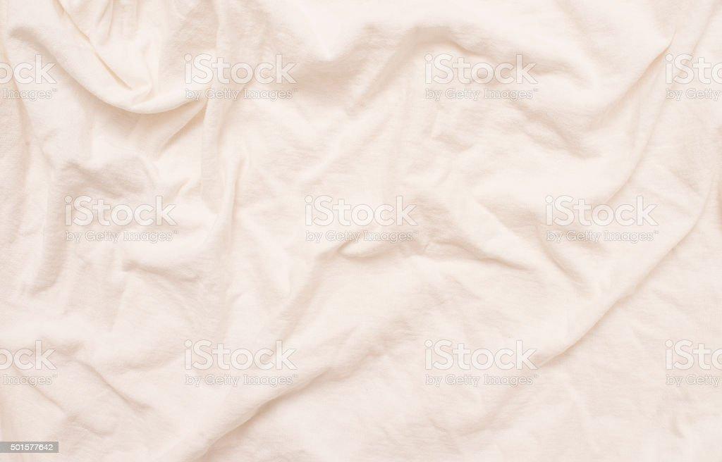 Empty bed sheet stock photo
