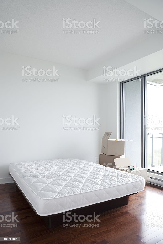 Empty Bedroom On Moving Day stock photo