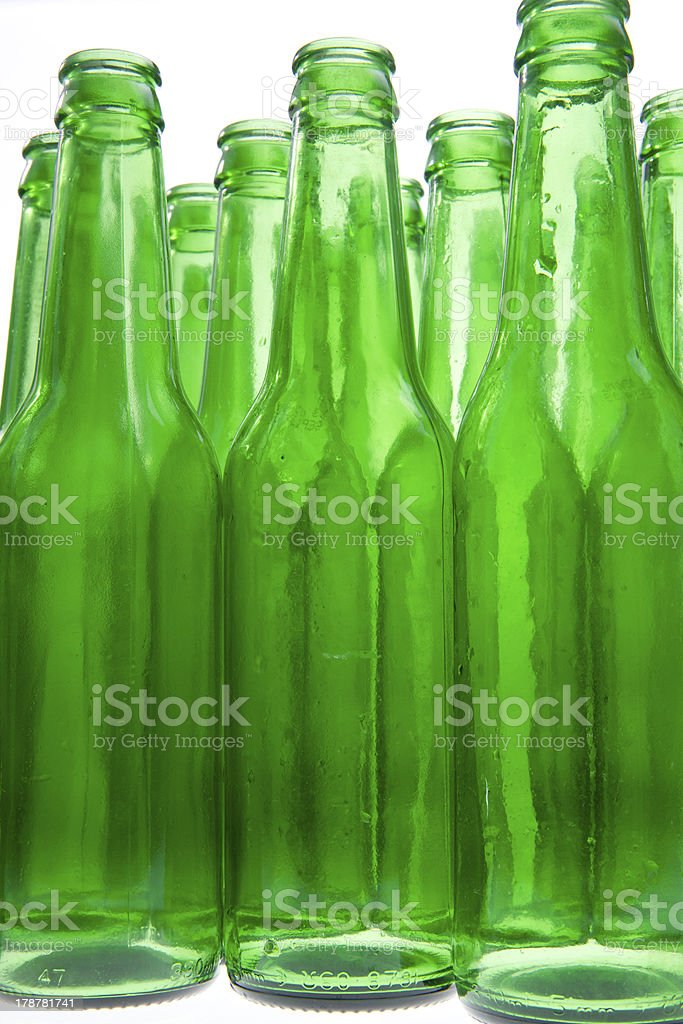 Empty Beer Bottles royalty-free stock photo