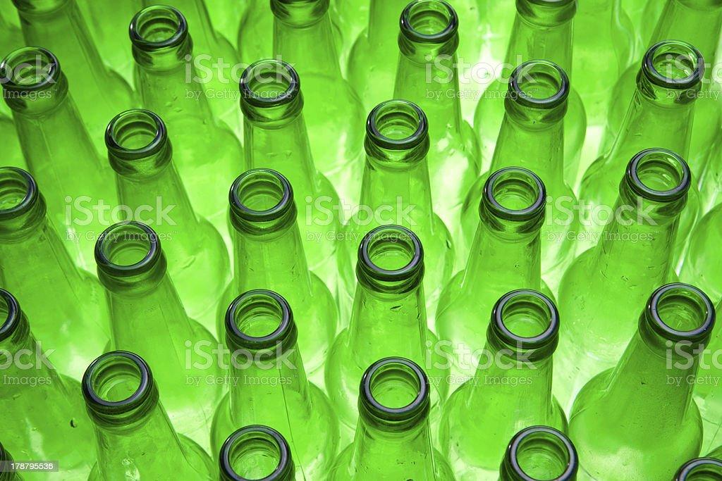Empty Beer Bottles royalty-free stock photo