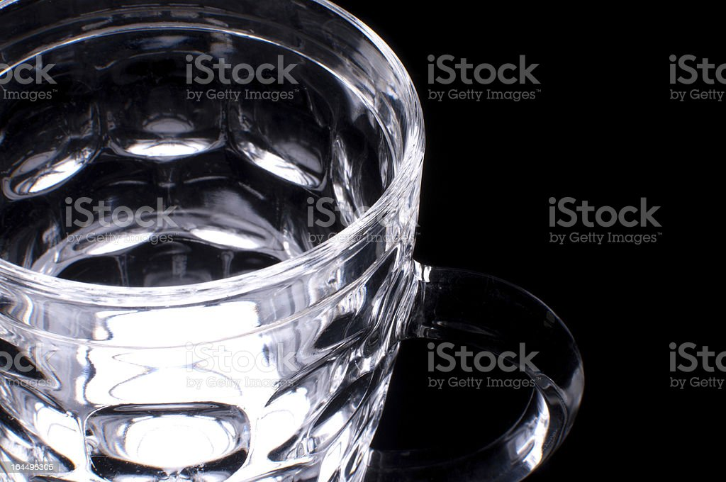 Empty beer glass mug. royalty-free stock photo
