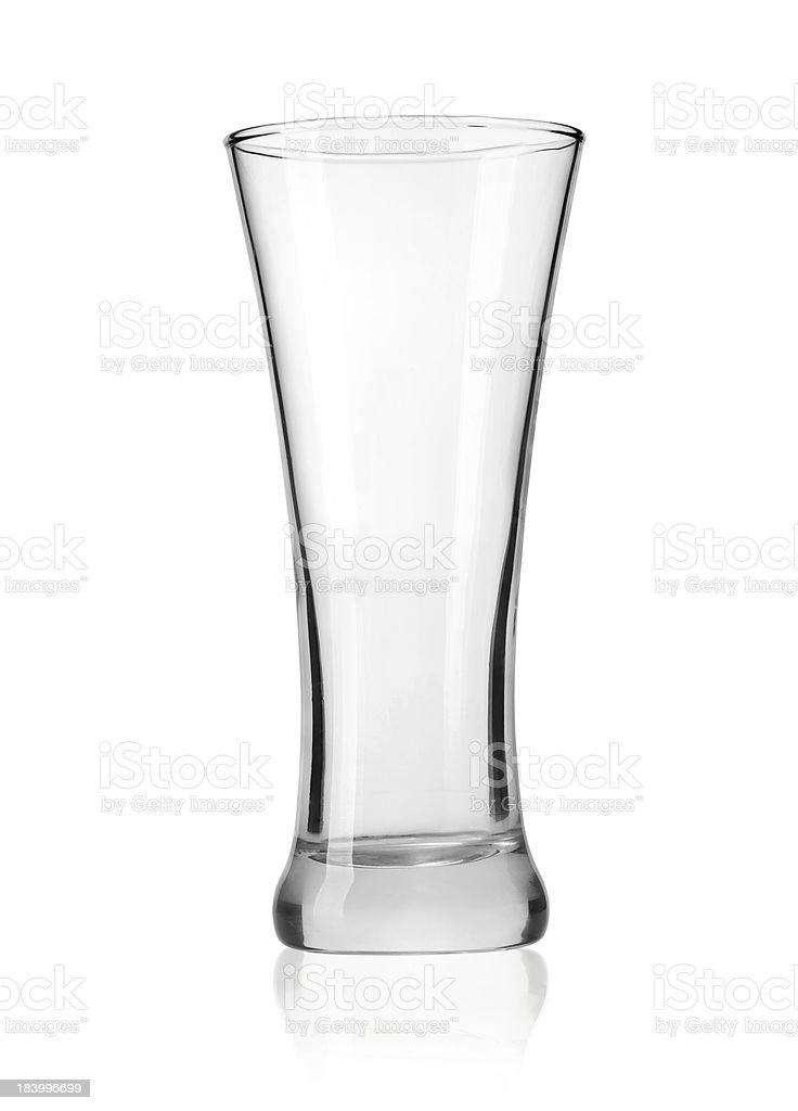 Empty beer glass royalty-free stock photo
