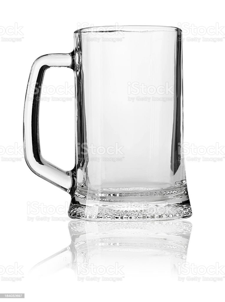 empty beer mug royalty-free stock photo