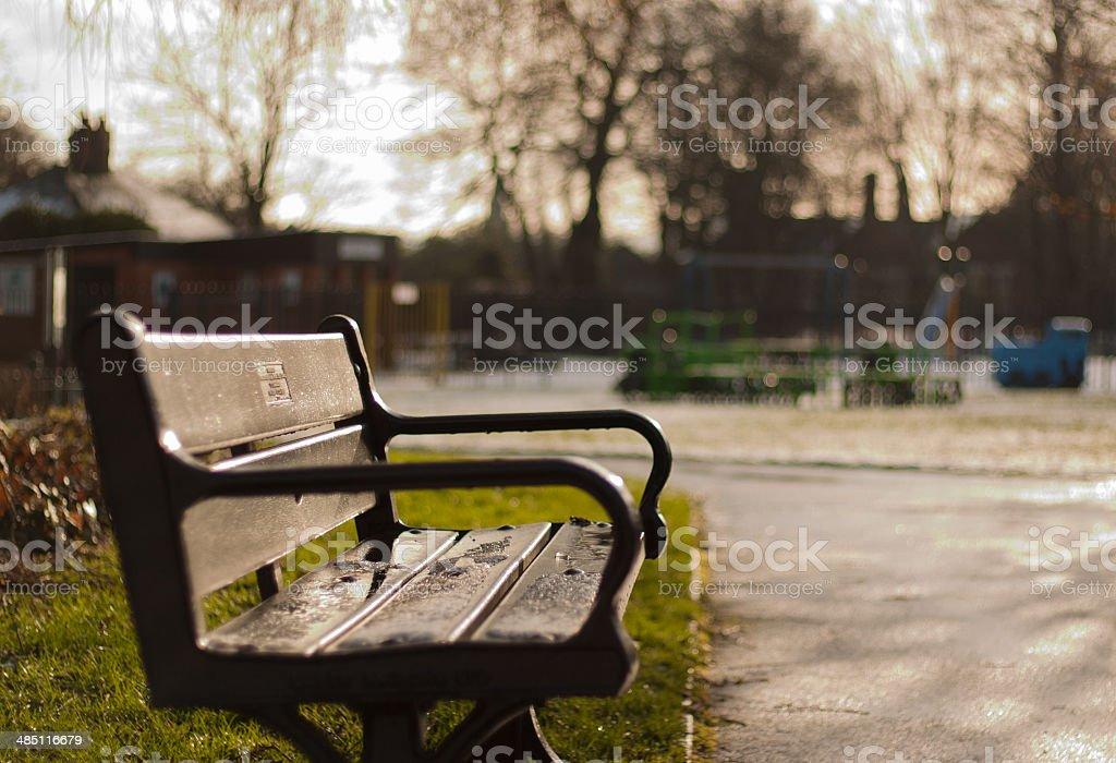 Empty Bench royalty-free stock photo