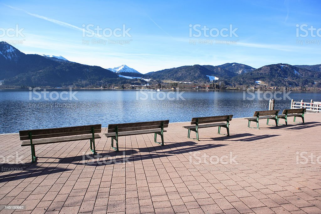 empty benches (XXL) stock photo