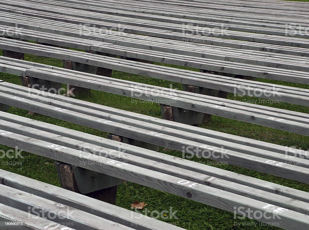 Empty benches royalty-free stock photo