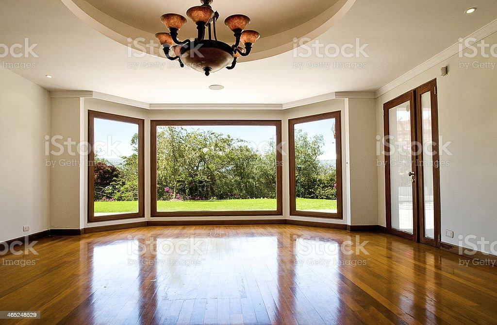 Empty big living room stock photo