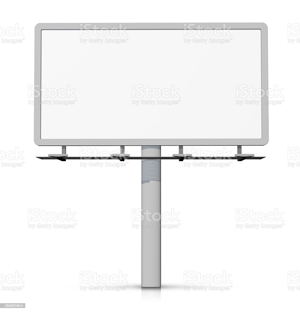 Empty billboard - easy to cut out. stock photo