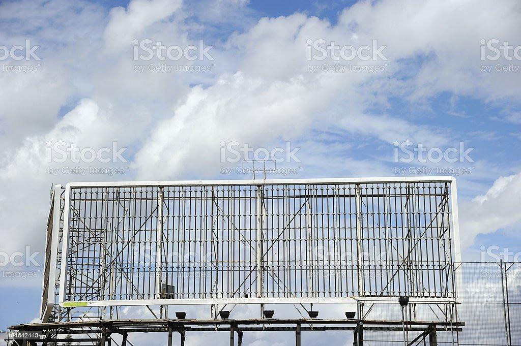 Empty Billboard Frame stock photo