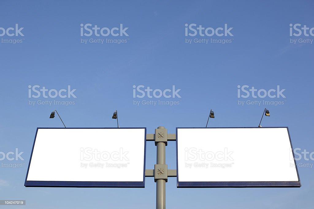 Empty billboard royalty-free stock photo