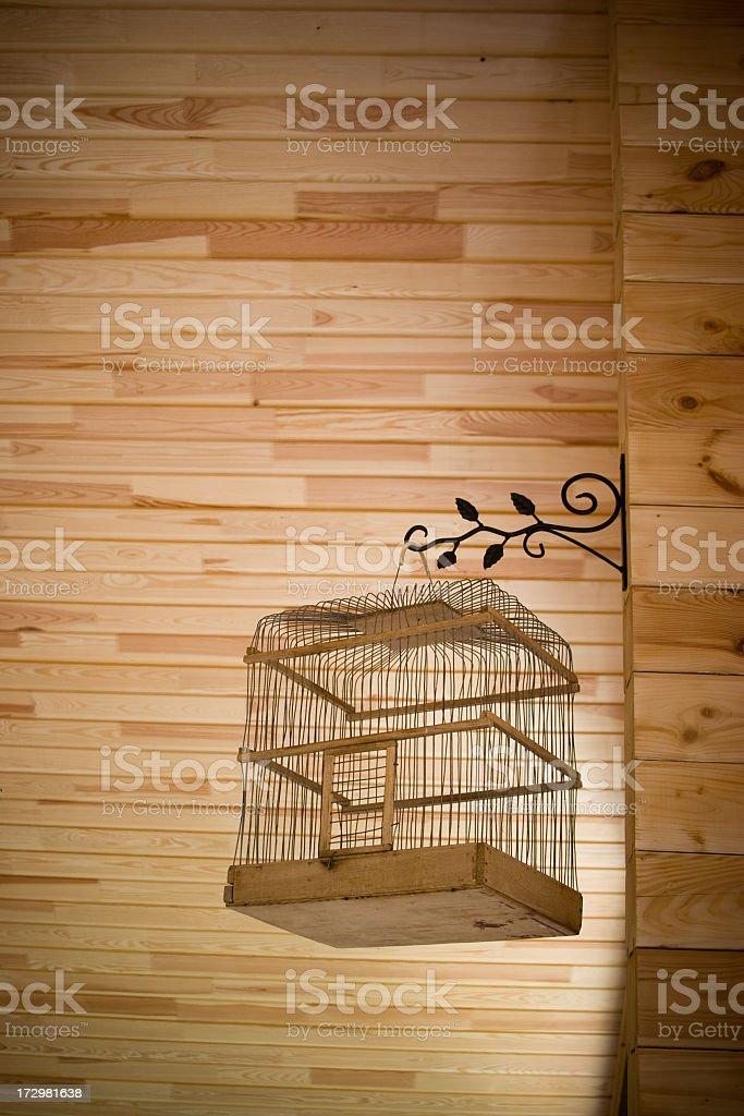 Empty birdcage royalty-free stock photo