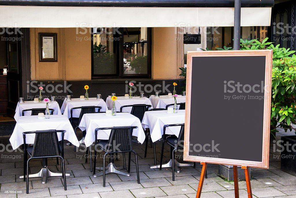 empty black board stock photo