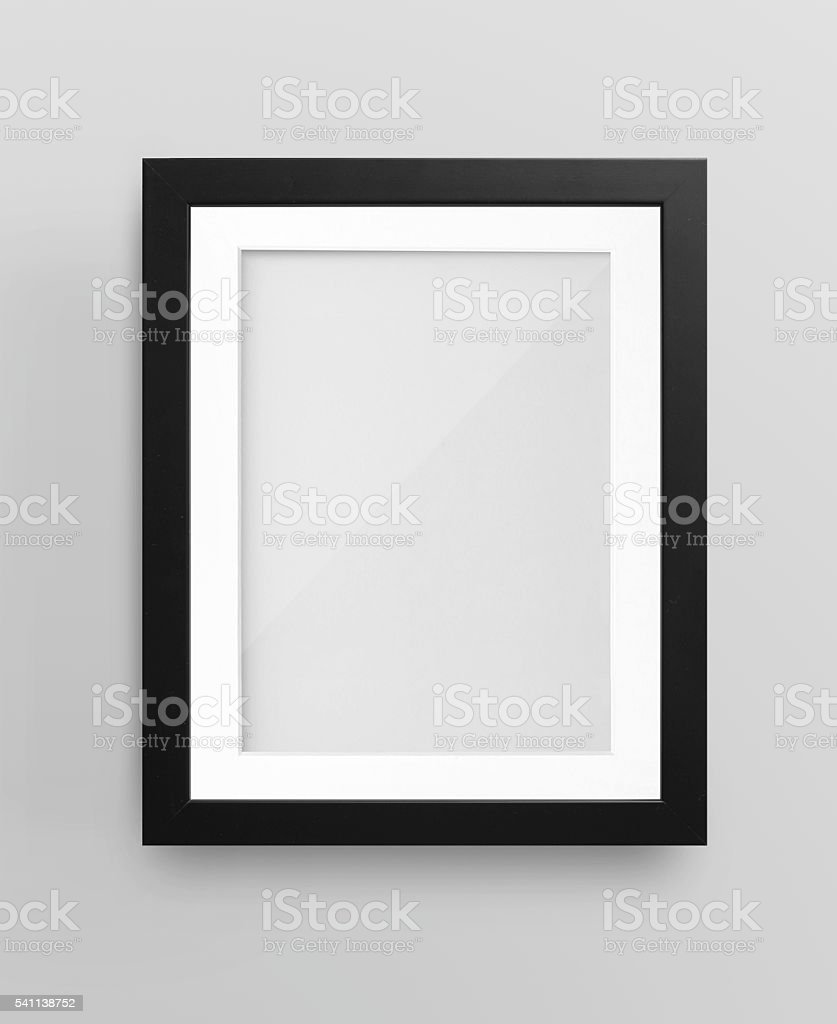 Empty Black Photo Frame stock photo