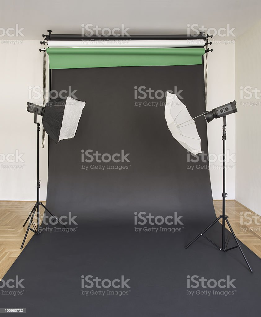 Empty Black Studio Droplet royalty-free stock photo