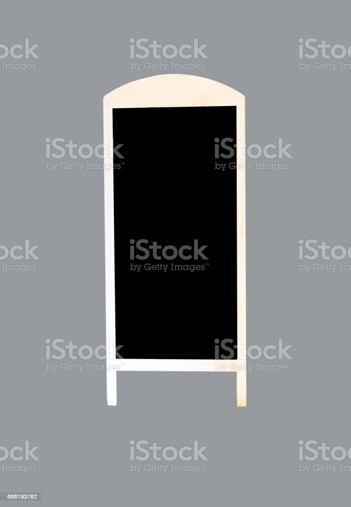 Empty blackboard sign stock photo
