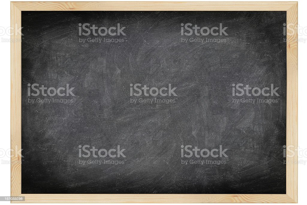 Empty blackboard with wooden frame royalty-free stock photo