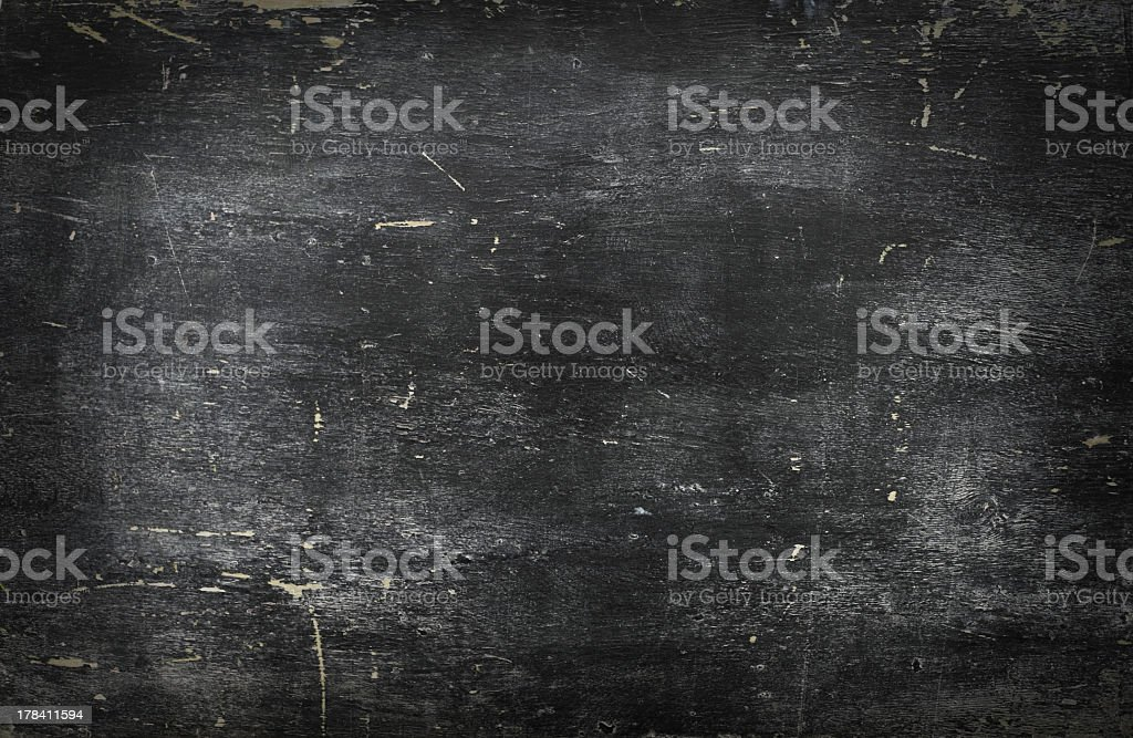 Empty blank black chalkboard with chalk traces royalty-free stock photo