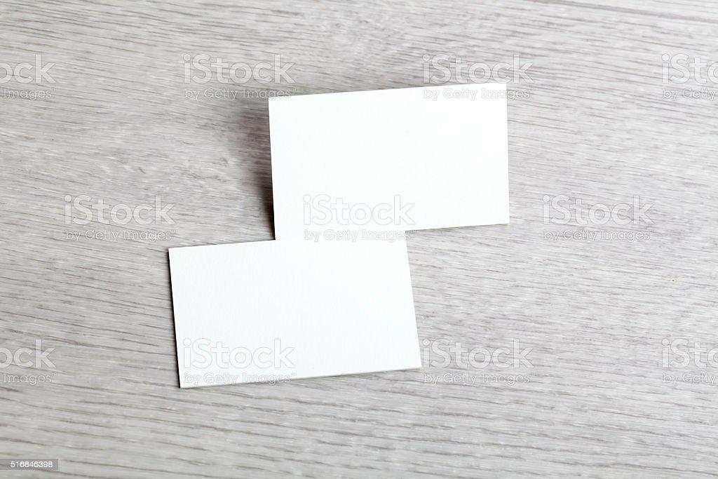 empty blank business card stock photo