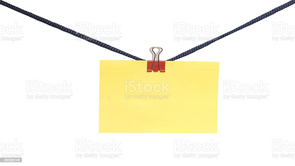 empty blank on the rope royalty-free stock photo