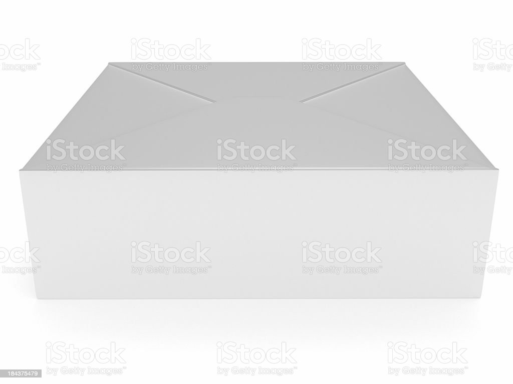 Empty Blank white Gift paper packaging Box 2 royalty-free stock photo