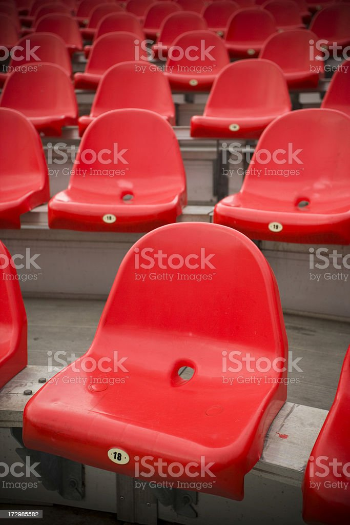 Empty bleachers royalty-free stock photo