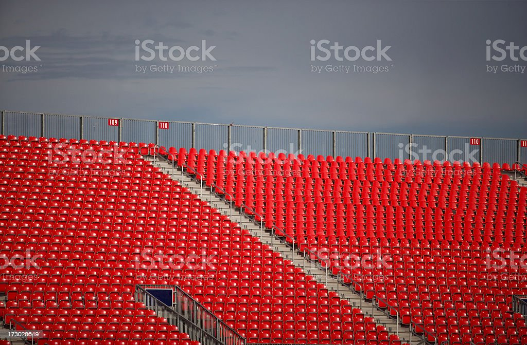 Empty bleachers royalty-free stock photo