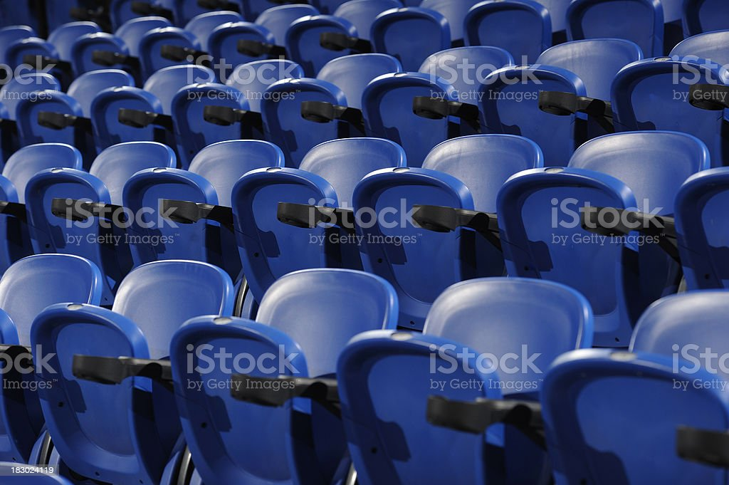 Empty bleachers stock photo