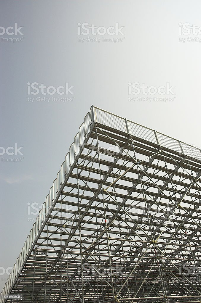 Empty bleachers view from behind royalty-free stock photo