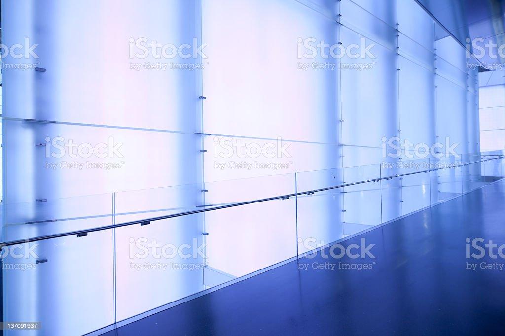 empty blue corridor royalty-free stock photo