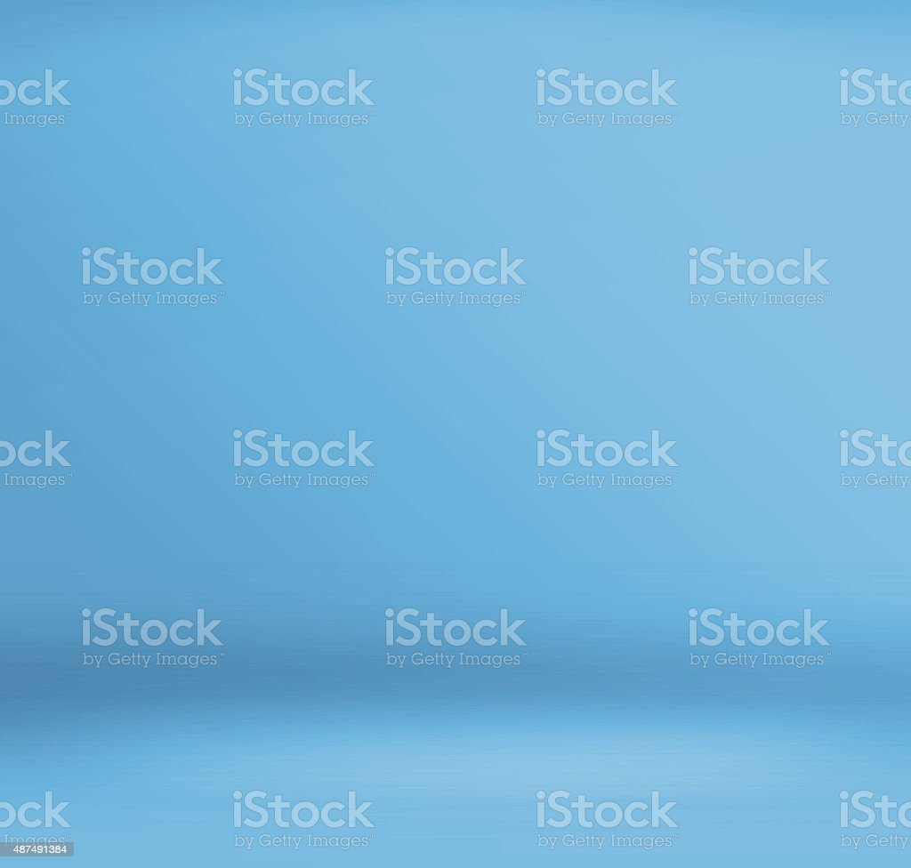 Empty blue studio room,mock up for display of product vector art illustration