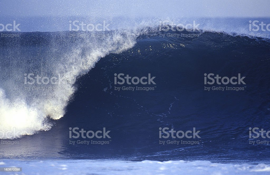 empty blue wave royalty-free stock photo