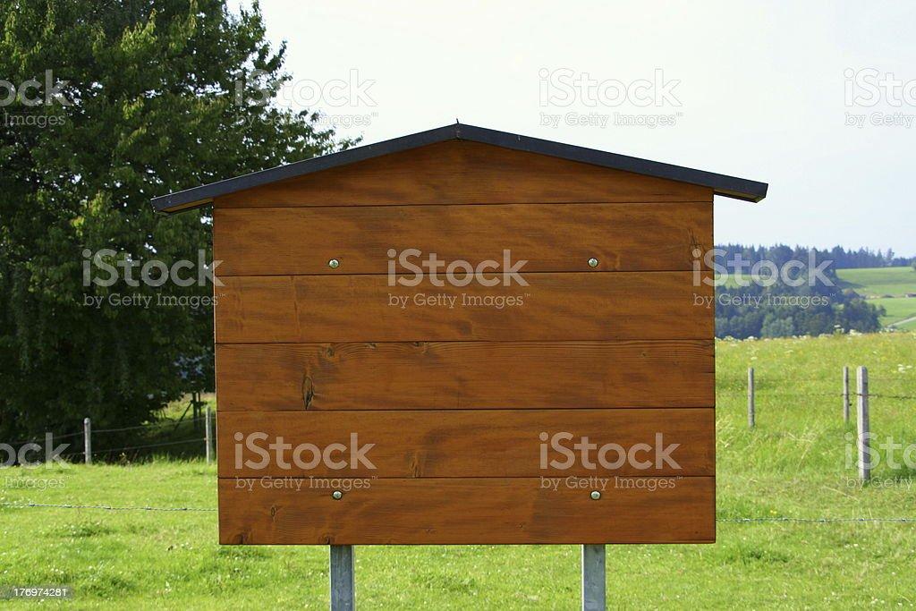 Empty board stock photo