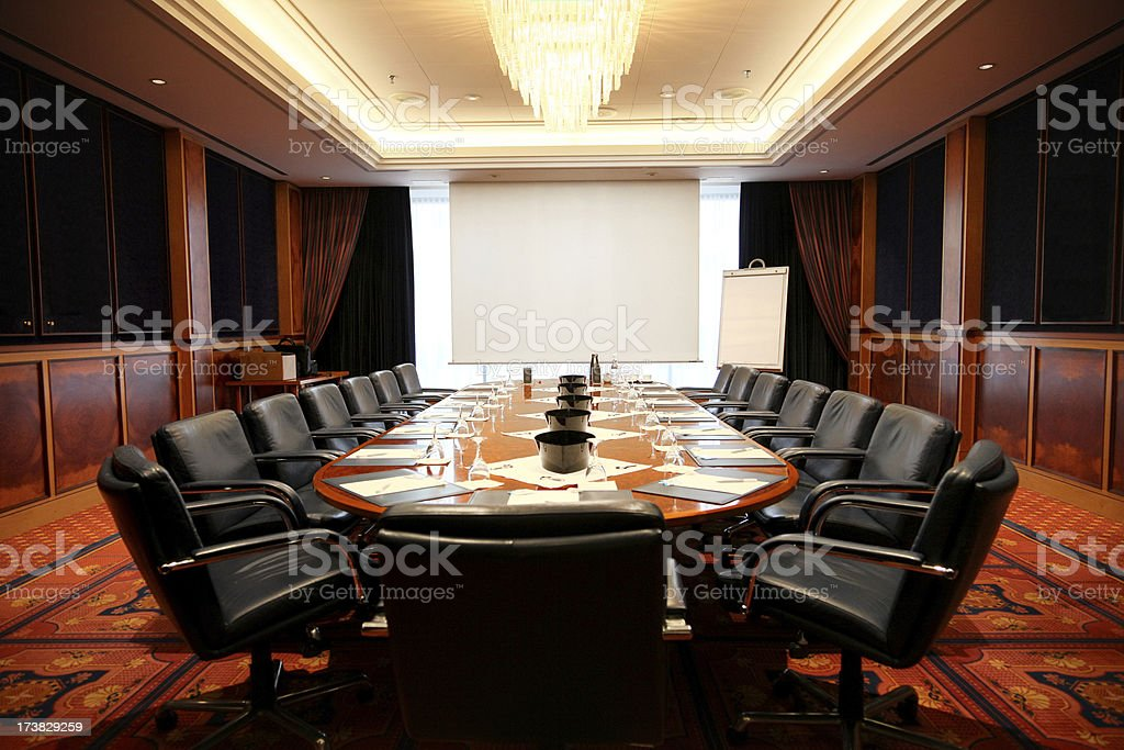 empty board room royalty-free stock photo