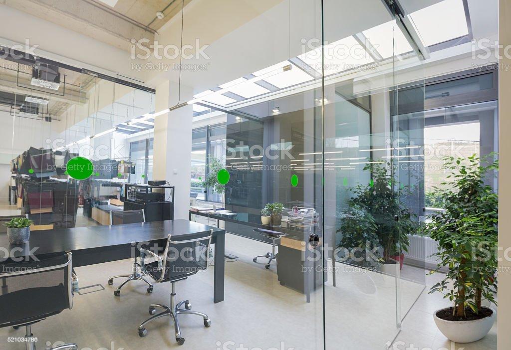 Empty board room stock photo