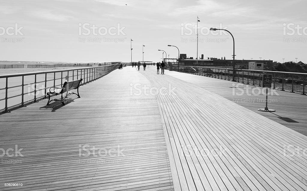 Empty boardwalk stock photo