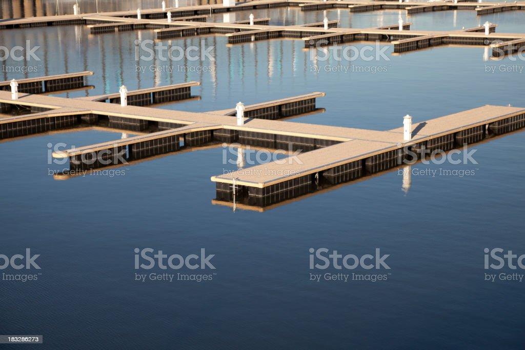 Empty Boat Dock royalty-free stock photo