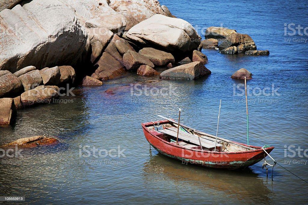 Vacío en un barco de la bahía foto de stock libre de derechos