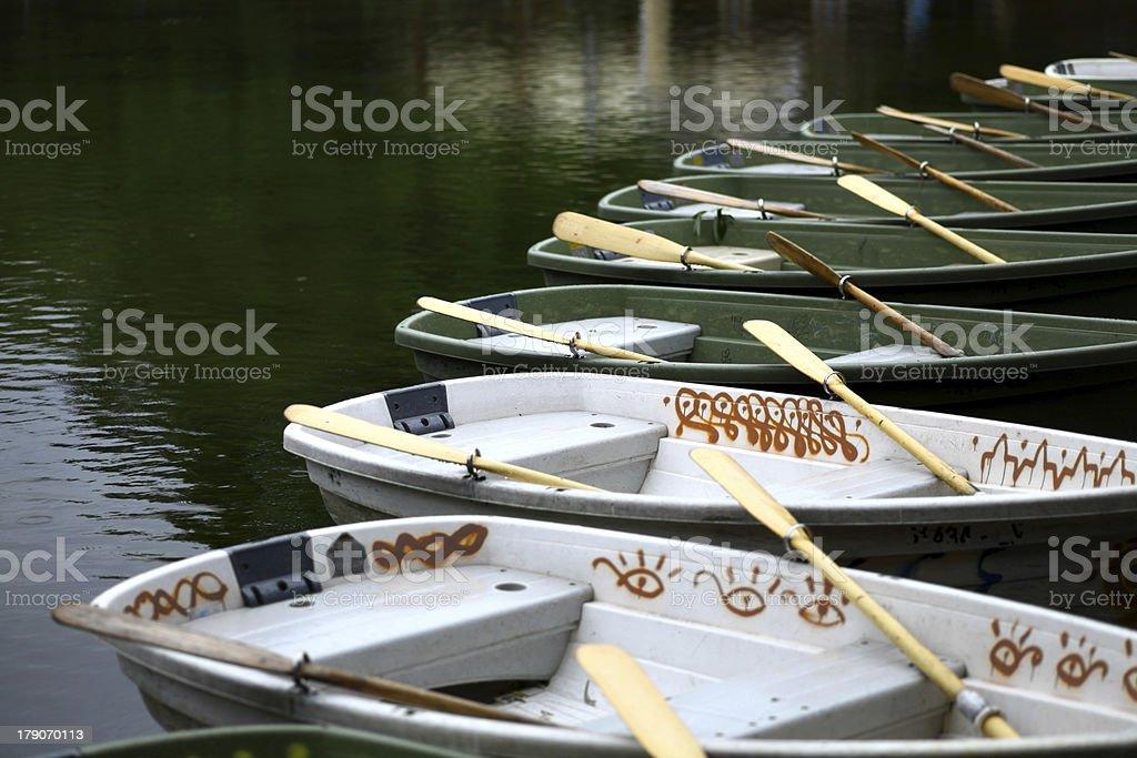 Empty boats royalty-free stock photo