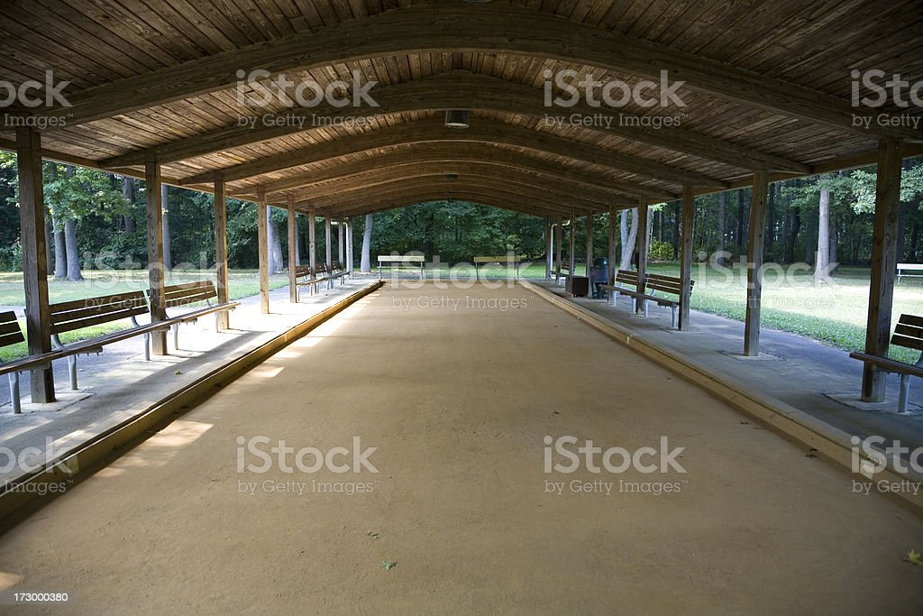 Empty Bocce Court royalty-free stock photo