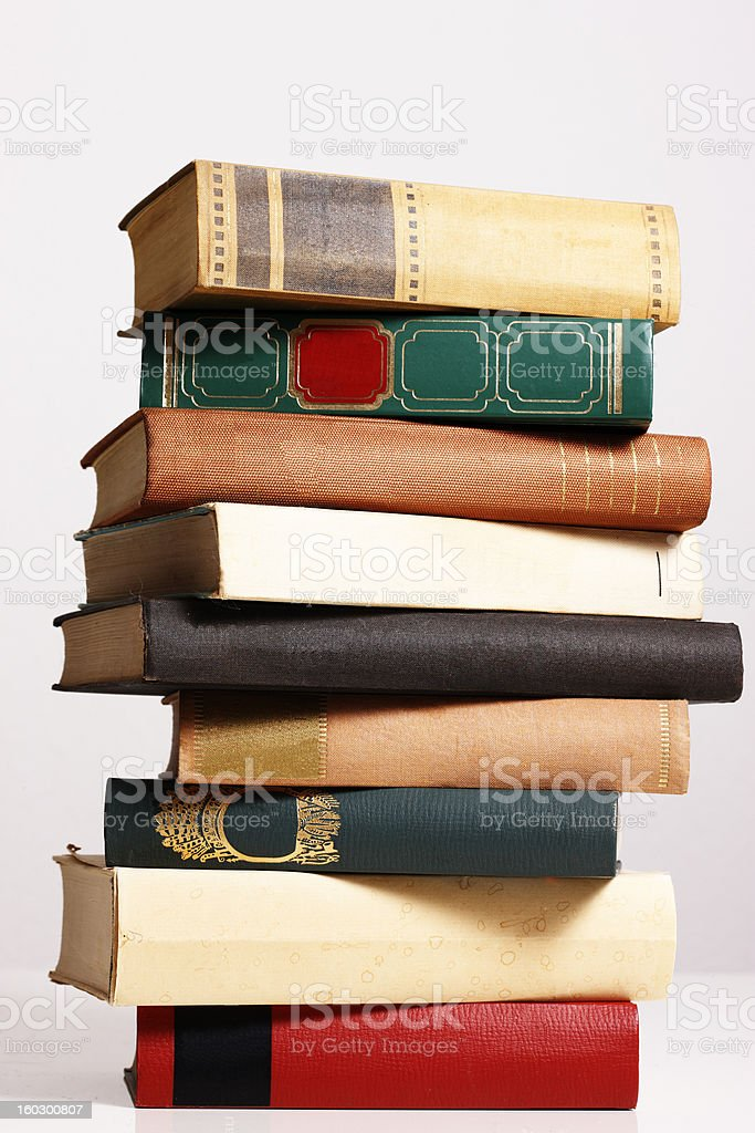 Empty Book Covers (XXL Image) with Copyspace royalty-free stock photo