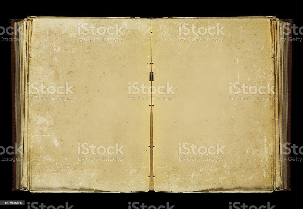 empty book opened stock photo
