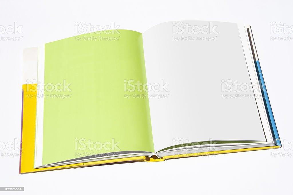 Empty book stock photo