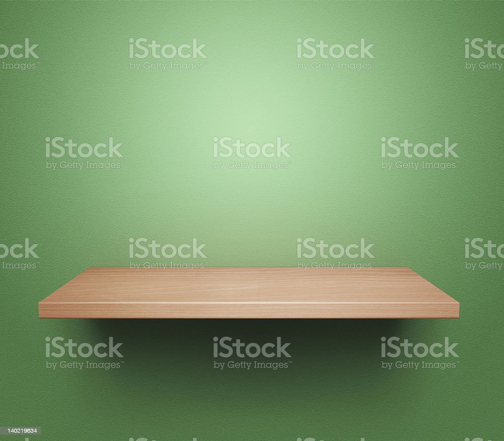 Empty book shelf royalty-free stock photo
