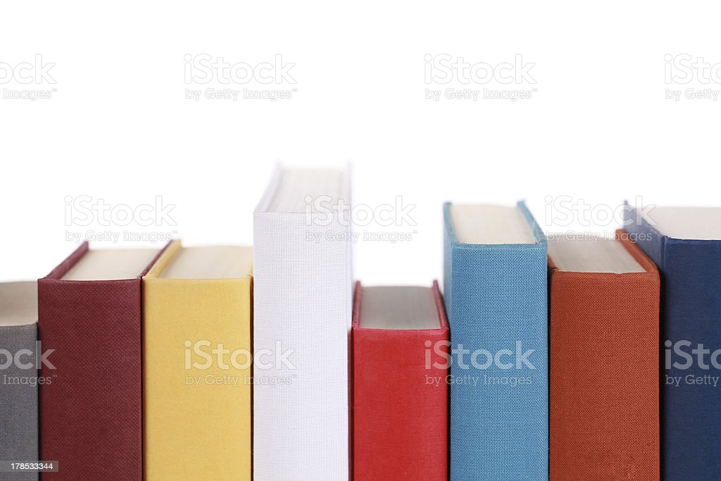 Empty book spines royalty-free stock photo