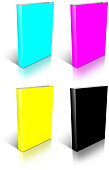 CMYK empty book template