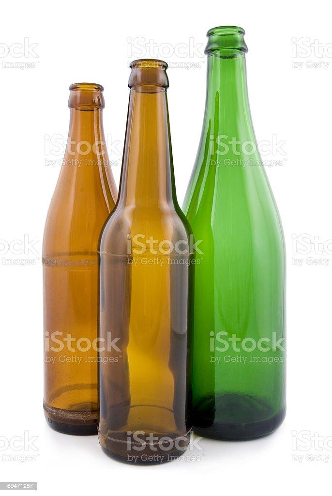 Empty bottles royalty-free stock photo