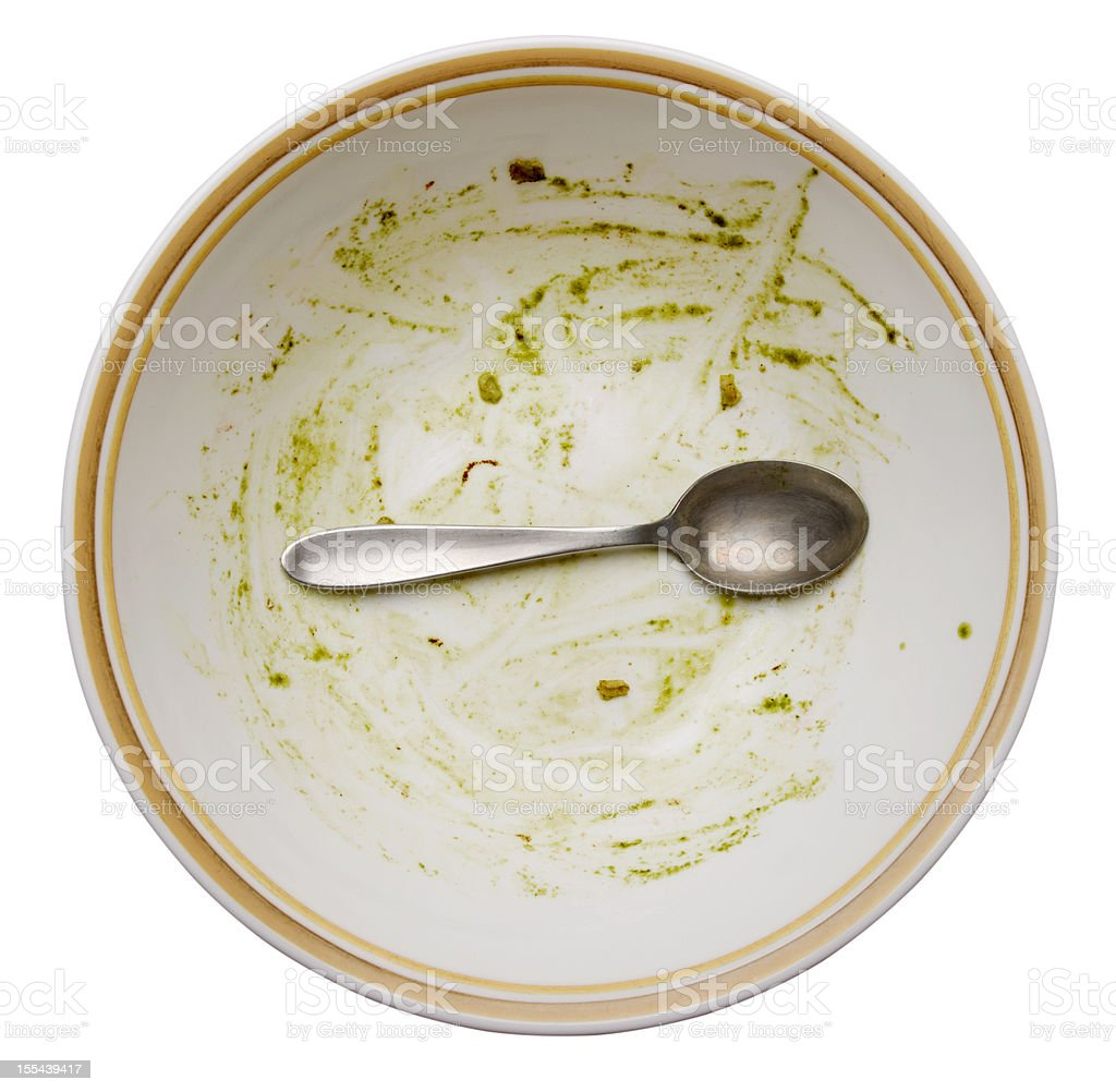 Empty Bowl with Spoon stock photo
